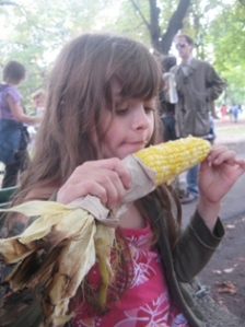 The corn was perfect