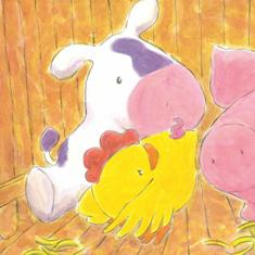 Chicken, Pig and Cow loved their barn but they were feeling a little crowded