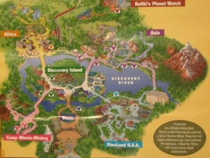 Provided map marks all the picnic areas around the park