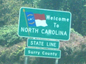 ...then North Carolina...