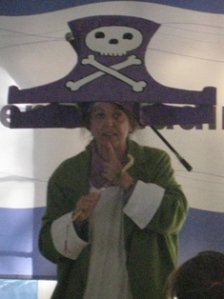 Patrica Storm as the pirate