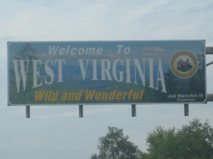 ...and then into West Virginia...