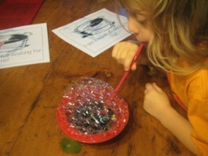 Look how big I can make these bubbles
