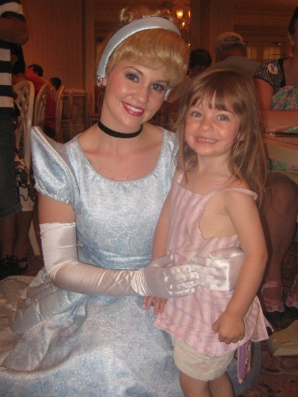 Then she met the real Cinderella