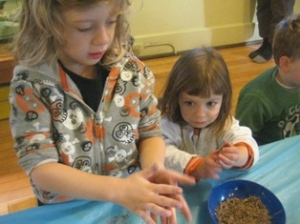 Hiding the seeds inside clay balls