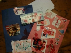 The letters Santa and crew will be receiving from our house this year.