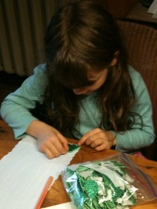 My 7yo creating a picture for Rudolph